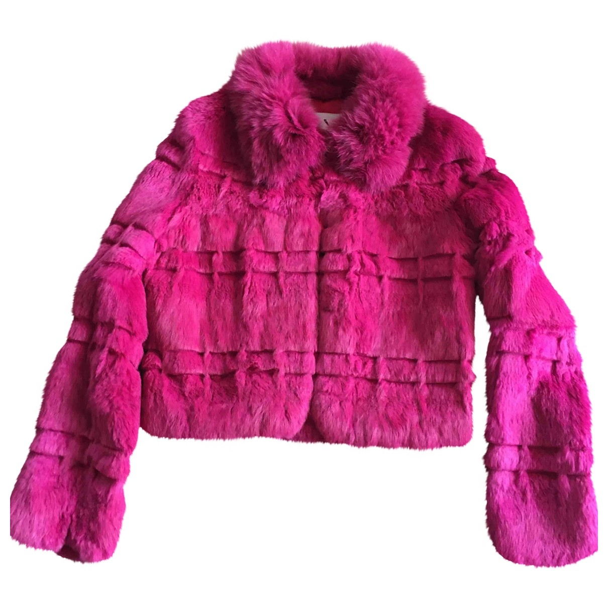 Non Signé / Unsigned \N Pink Faux fur coat for Women 42 FR