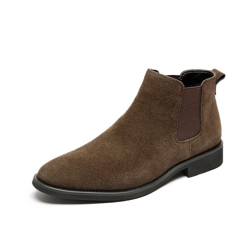 Ericdress Round Toe Slip-On Plain PU Boots