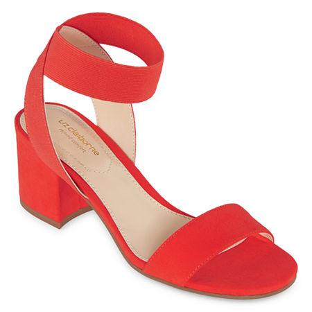 Liz Claiborne Womens Eastwick Strap Sandals, 6 1/2 Medium, Red