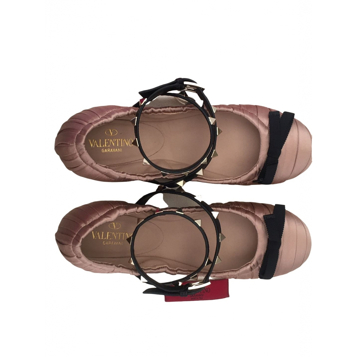 Valentino Garavani \N Pink Leather Ballet flats for Women 4 UK