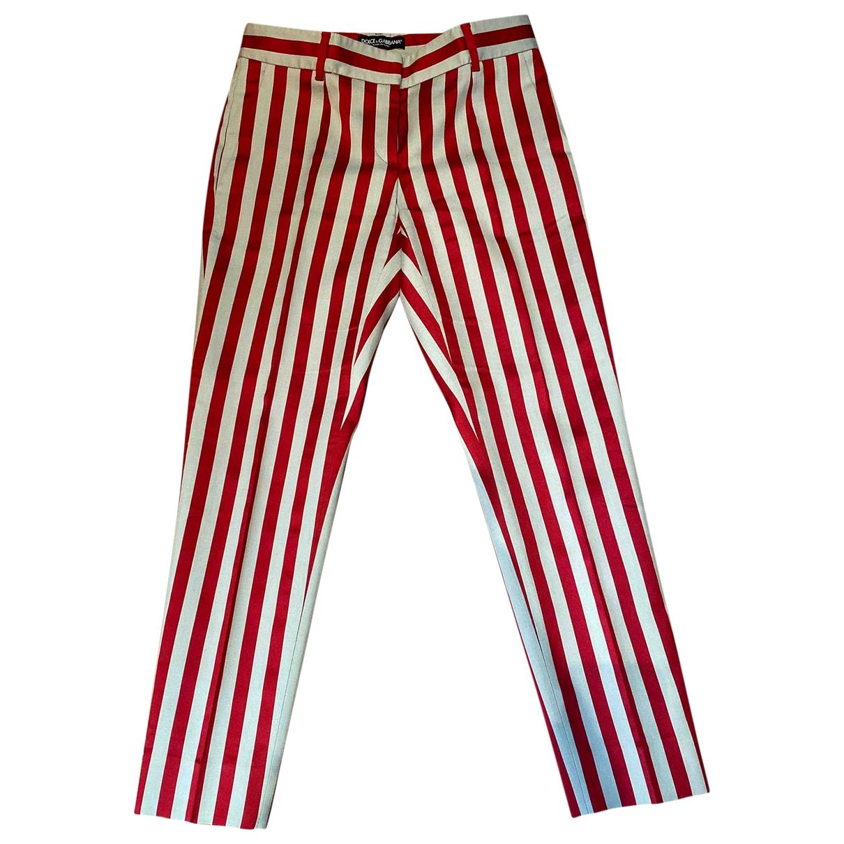 Dolce & Gabbana \N Cotton Trousers for Women 36 IT