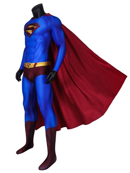 Milanoo Superman Returns Superman Cosplay Lycra Spandex Catsuits DC Comics Cosplay Costume
