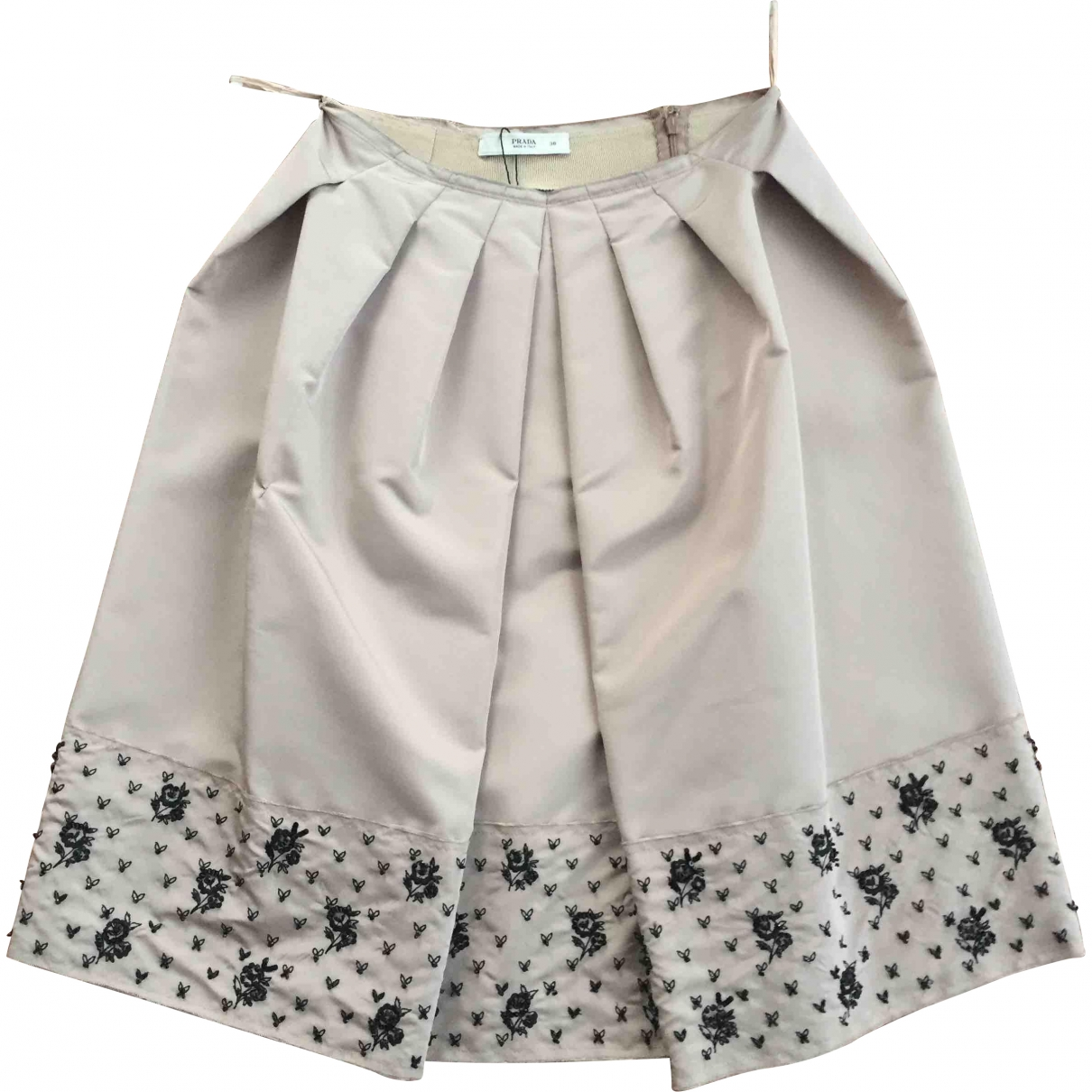 Prada \N Beige Silk skirt for Women 38 IT