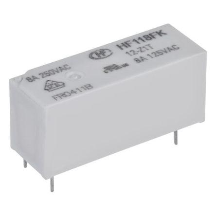 Hongfa Europe GMBH 5 Volt Coil, SPST-NO Contacts, 8A, AgSnO (20)