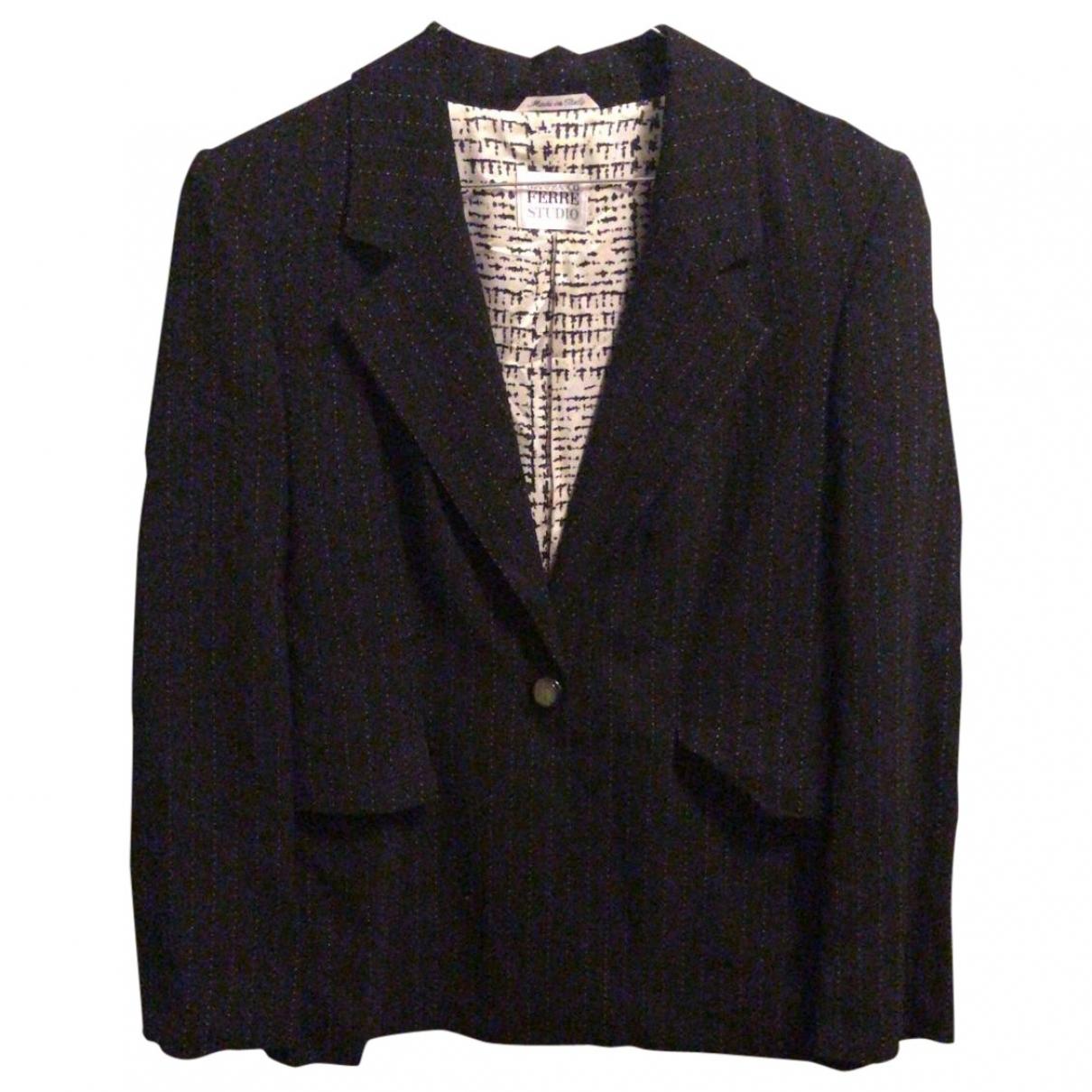 Gianfranco Ferré \N Black Wool jacket for Women 44 IT