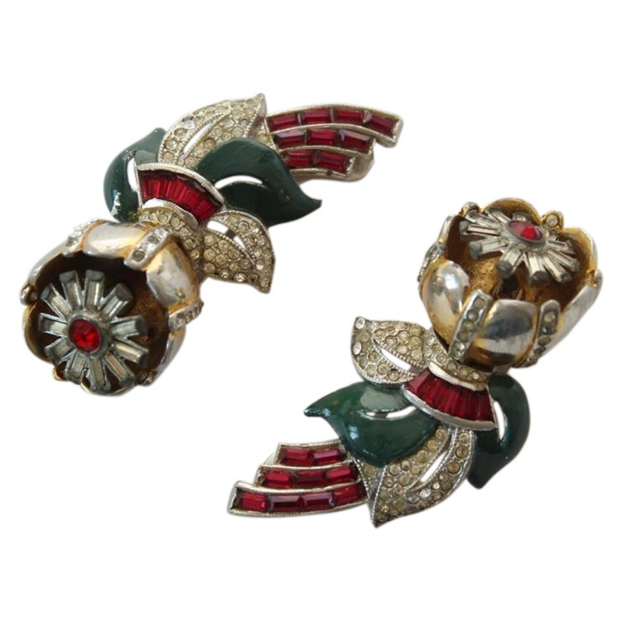 Non Signé / Unsigned \N Crystal Pins & brooches for Women \N