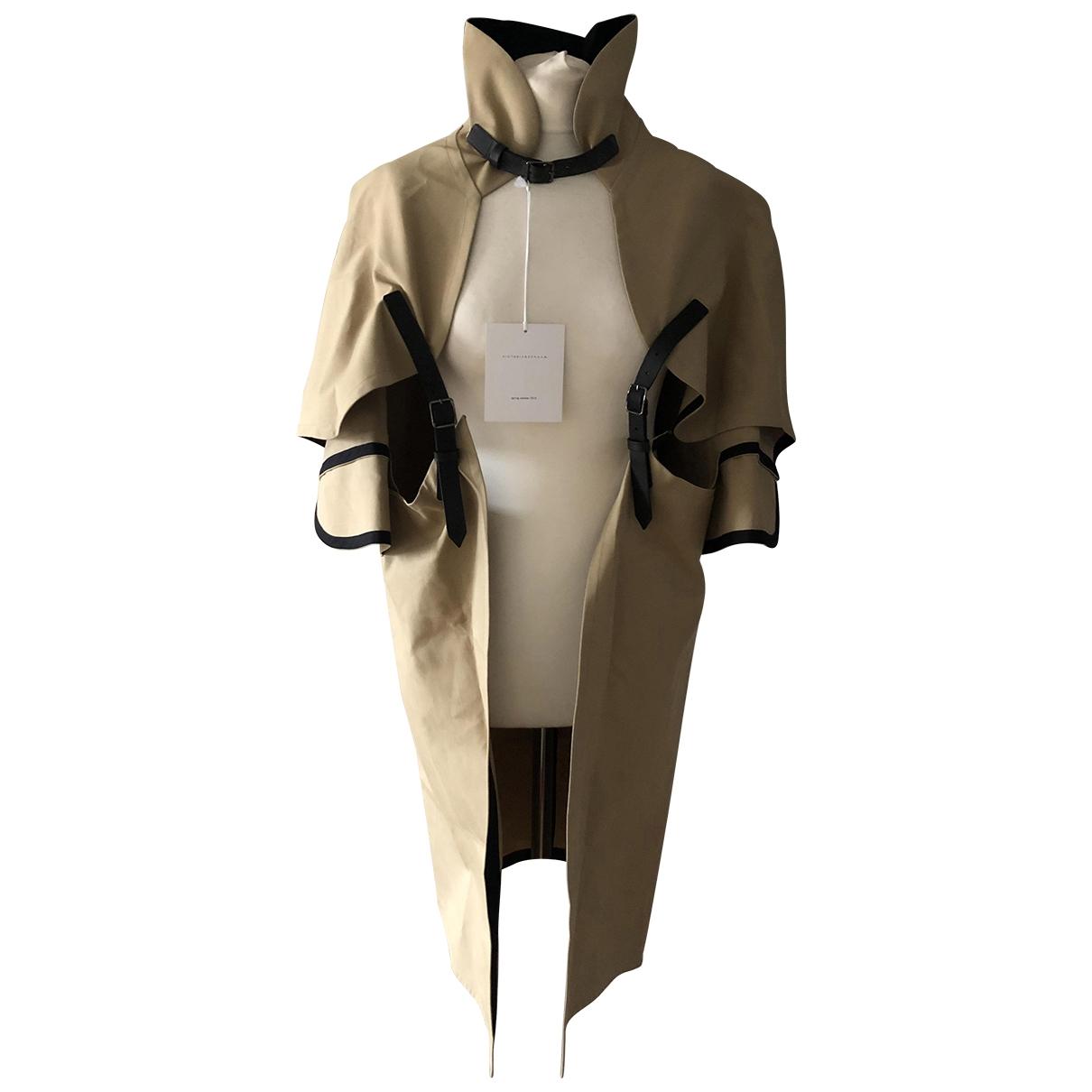 Victoria Beckham \N Beige Cotton Trench coat for Women 2 0-5