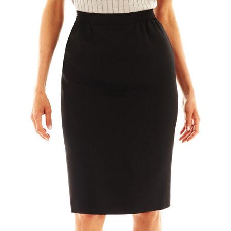 Alfred Dunner Skirt, 6 Petite , Black
