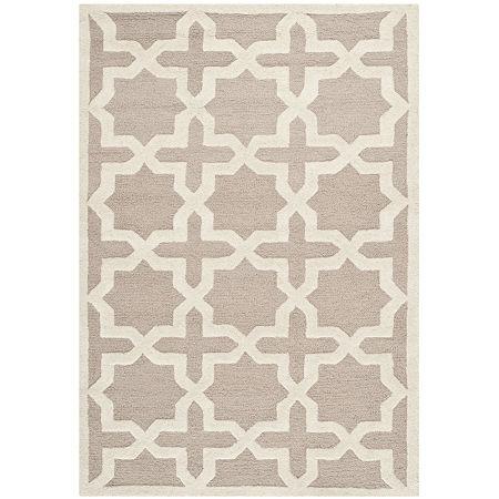 Safavieh Trevelyan Geometric Hand Tufted Wool Rug, One Size , Beige