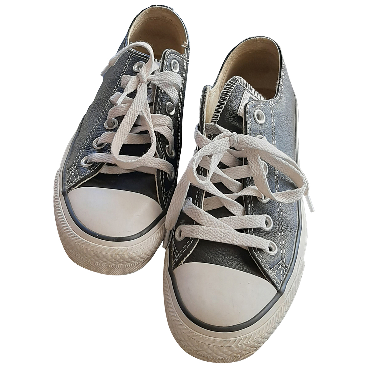 Converse \N Black Leather Trainers for Women 37 EU