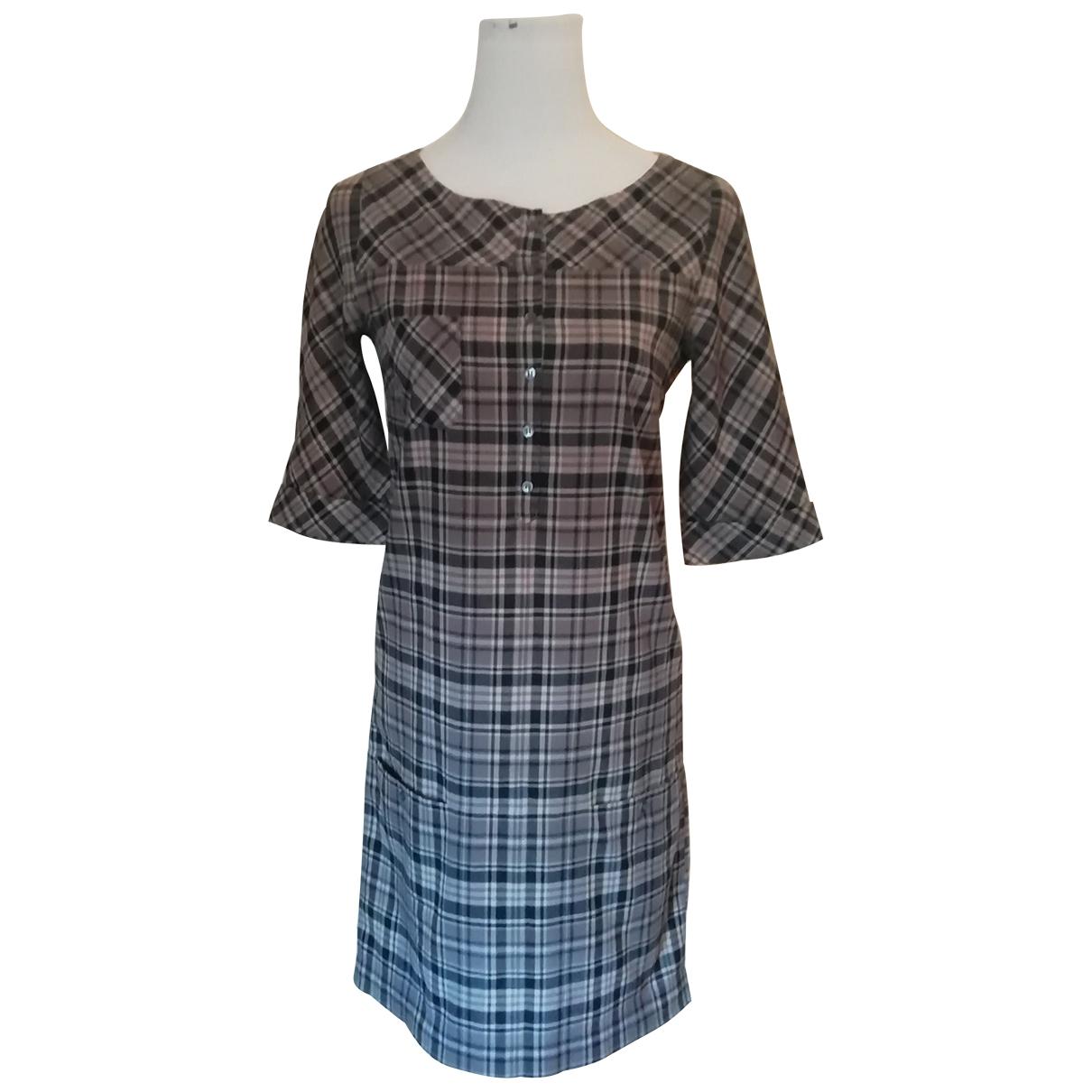 Comptoir Des Cotonniers \N Grey Cotton dress for Women 36 FR