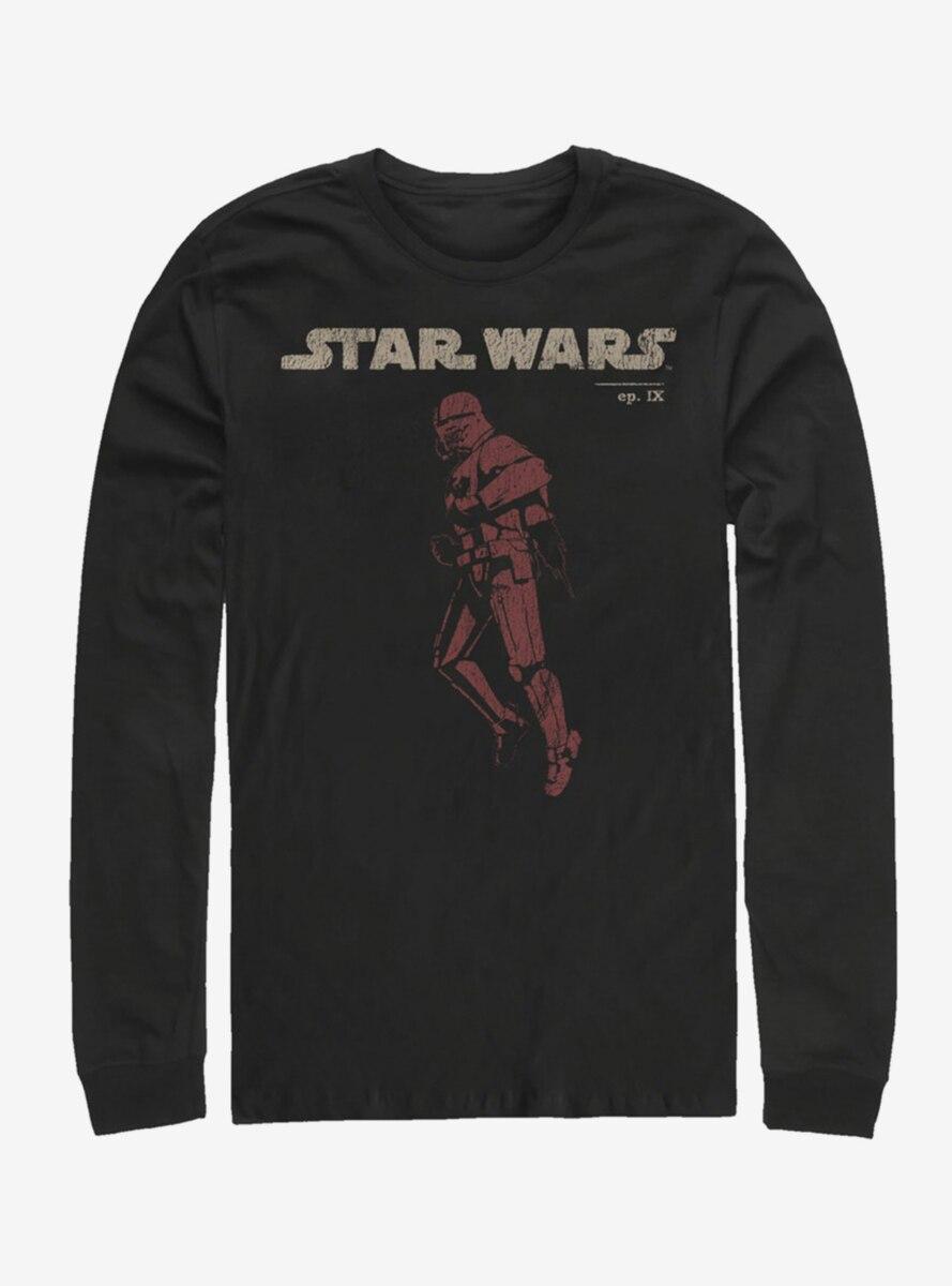 Star Wars Episode IX The Rise Of Skywalker Jet Red Long-Sleeve T-Shirt