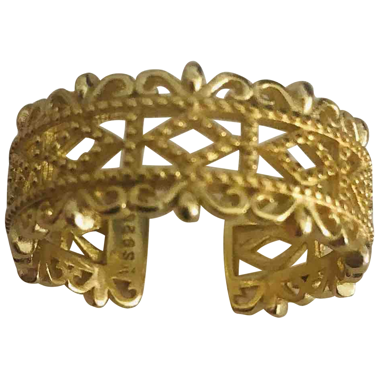 Non Signé / Unsigned \N Gold Silver ring for Women 54 EU