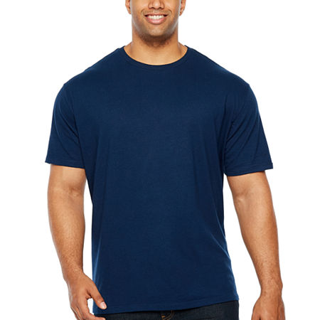 The Foundry Big & Tall Supply Co.-Big and Tall Mens Crew Neck Short Sleeve T-Shirt, 3x-large Tall , Blue