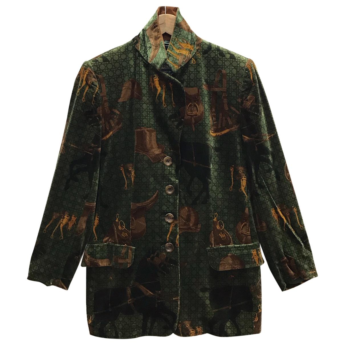 Herno \N Green Cotton coat  for Men S International