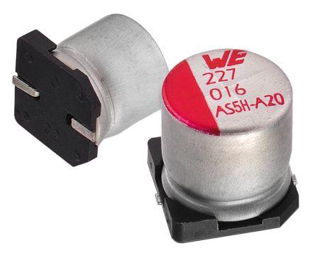 Wurth Elektronik 22μF Electrolytic Capacitor 35V dc, Surface Mount - 865080542006 (25)