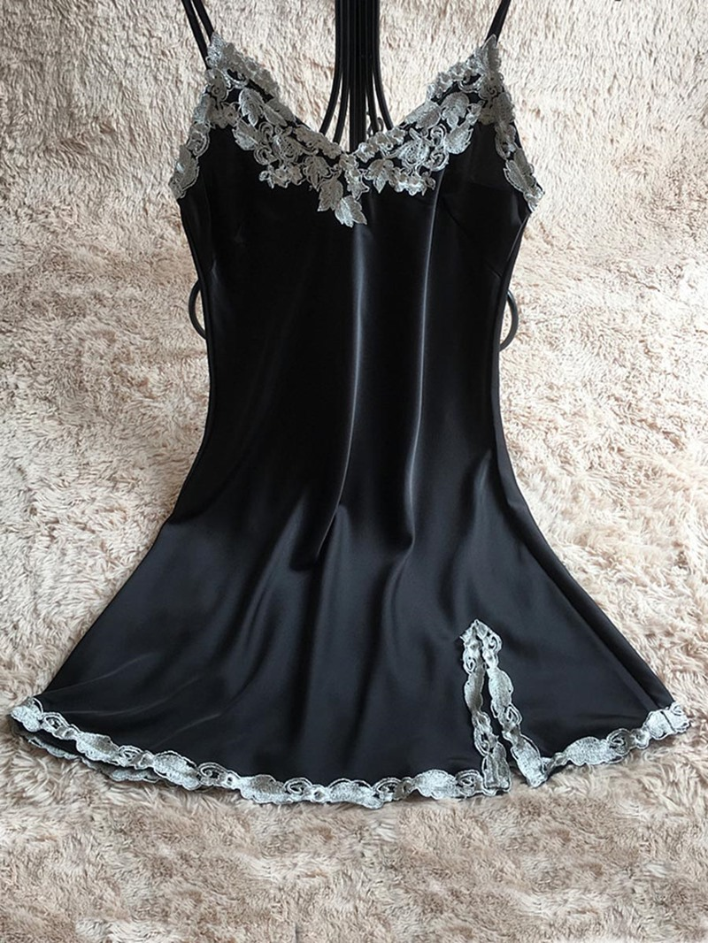 Ericdress Pullover Lace Above Knee Nightgown