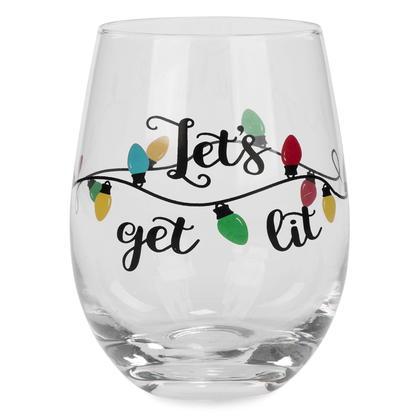 Stemless Wine Glass - Let's Get Lit