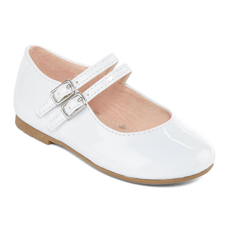 Christie & Jill Toddler Girls Twinkle Mary Jane Shoes, 9 Medium, White