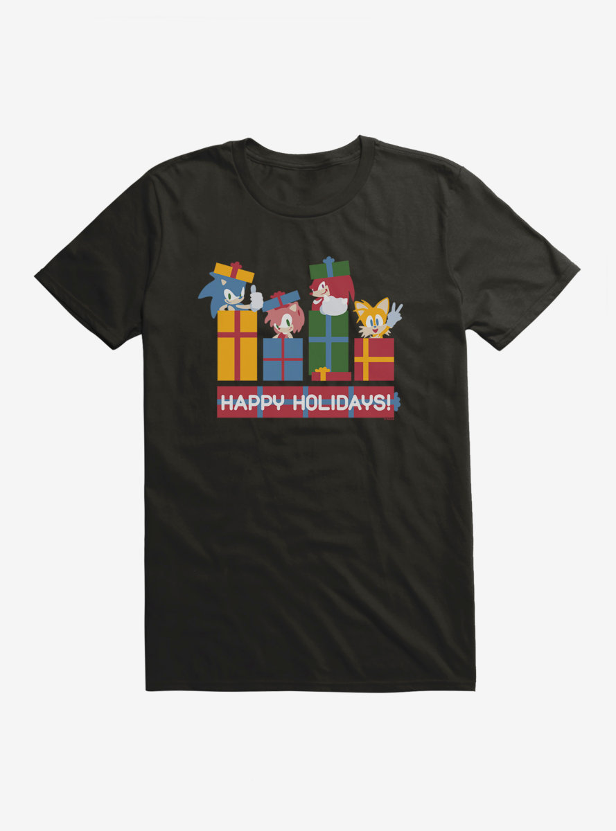 Sonic The Hedgehog Winter Gift Friends T-Shirt