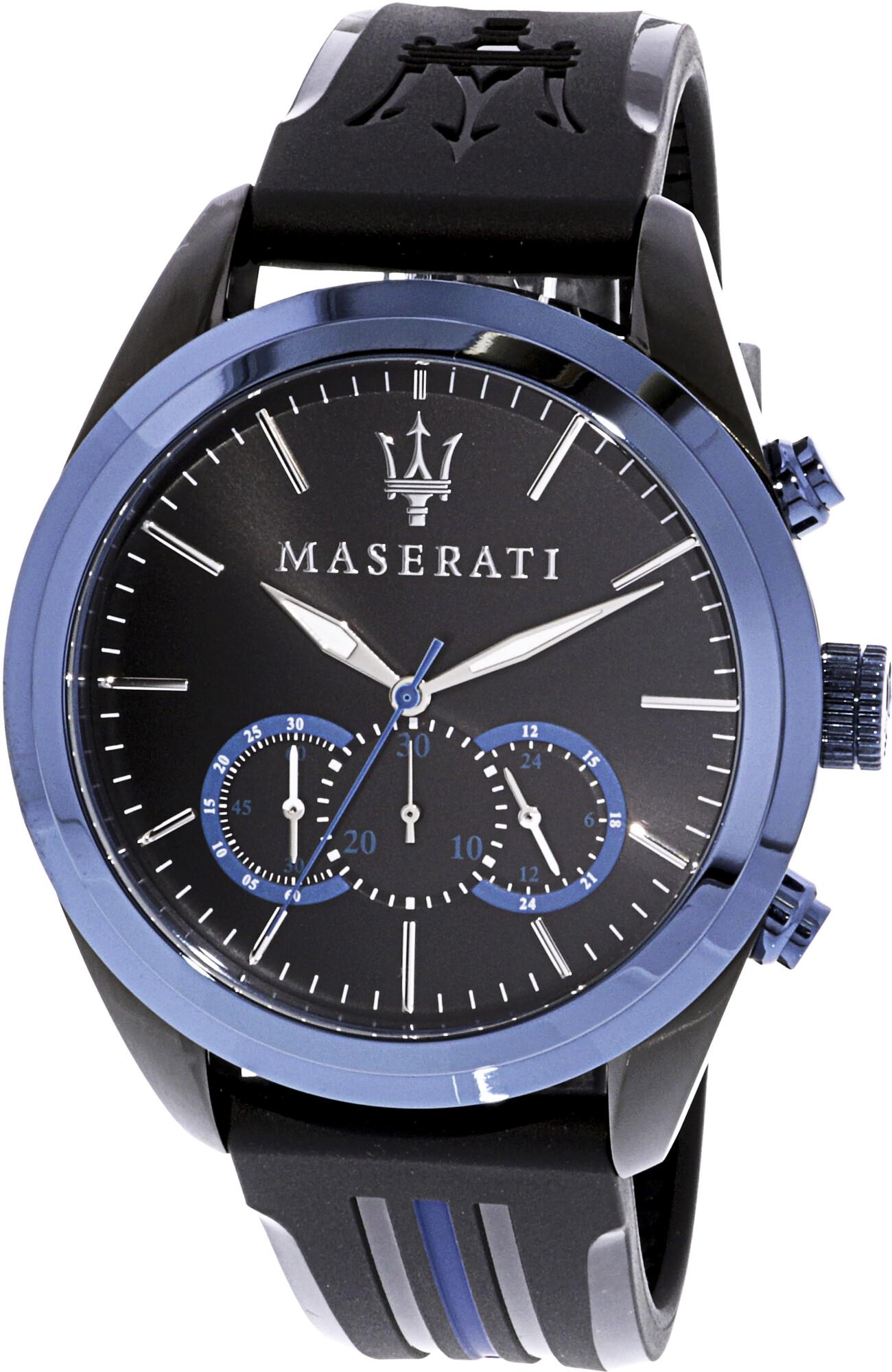 Maserati Men's Traguardo R8871612006 Black Rubber Sports Watch