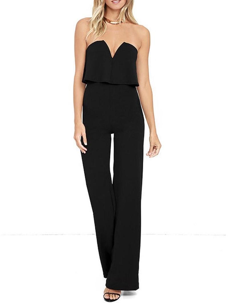 Ericdress Plain Sexy Dressy Slim Jumpsuit