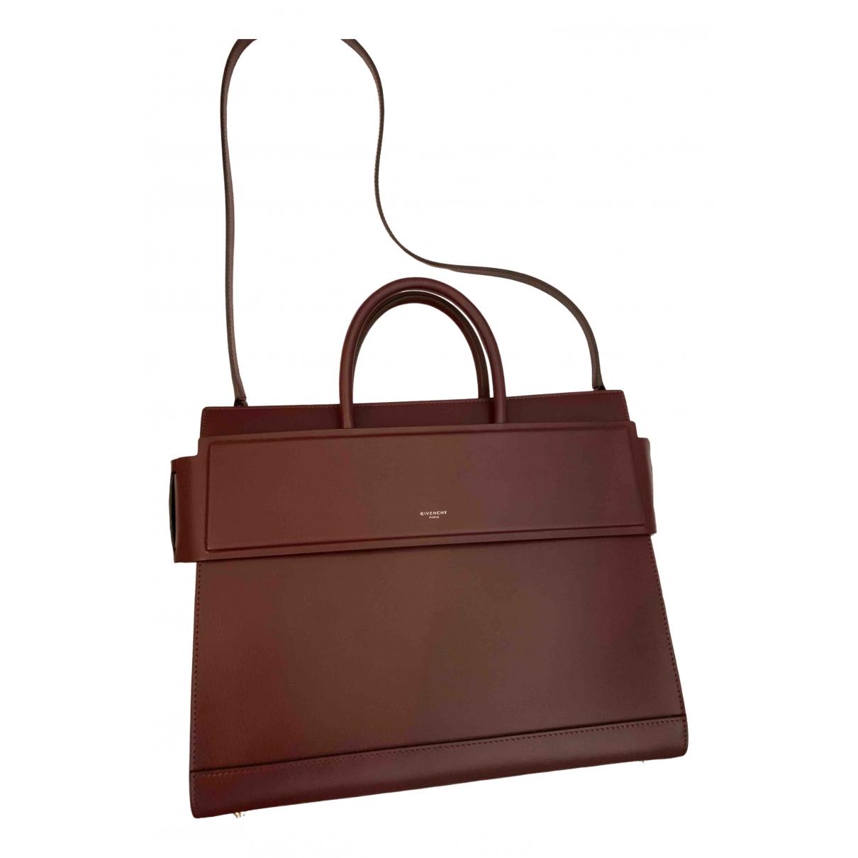 Givenchy Horizon Burgundy Leather handbag for Women \N