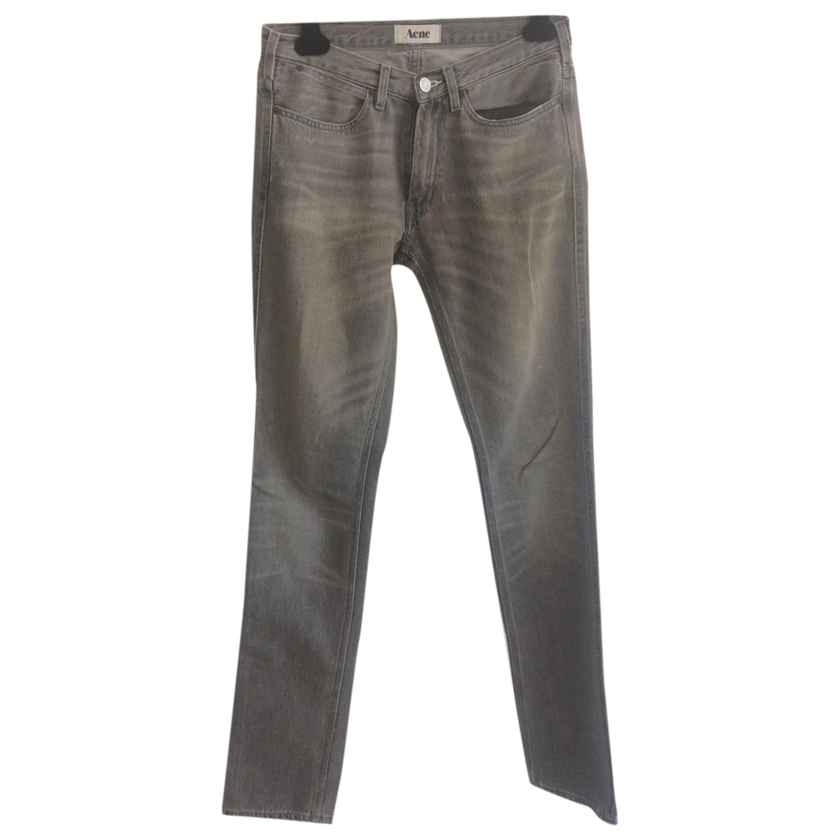 Acne Studios \N Grey Cotton - elasthane Jeans for Men 31 US