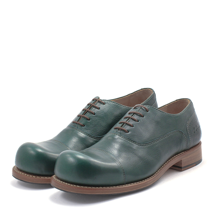 HOBO, Charly m Men's Lace-up Shoes, dark green Größe 41
