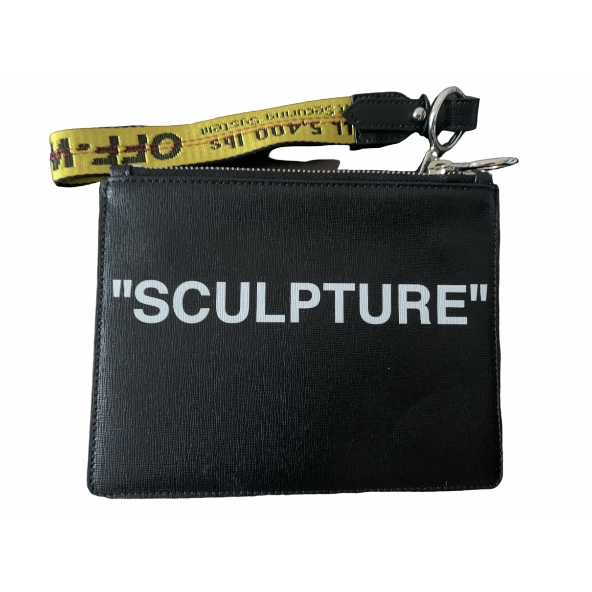 Off-white \N Black Leather Clutch bag for Women \N