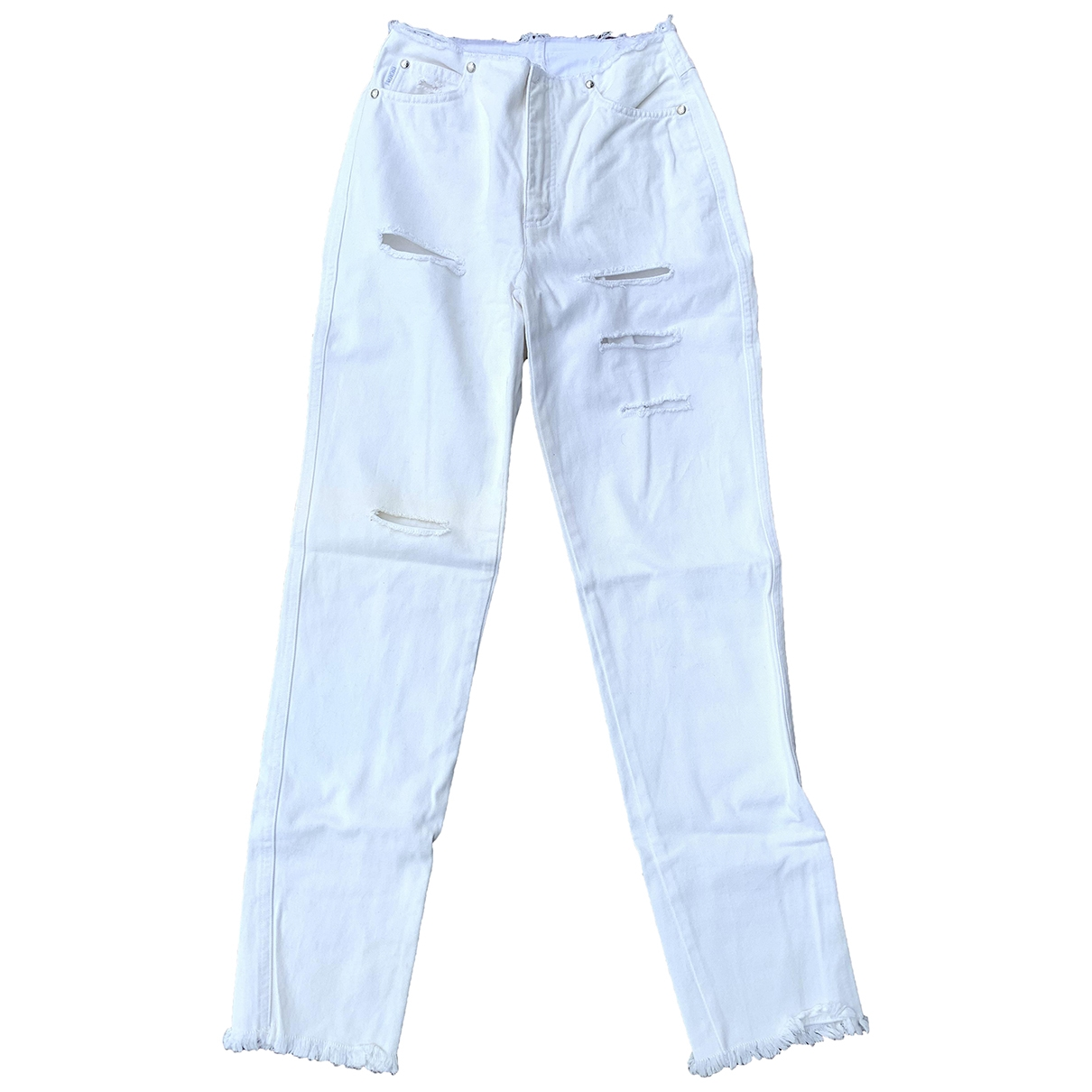 Escada \N White Cotton Jeans for Women 34 FR