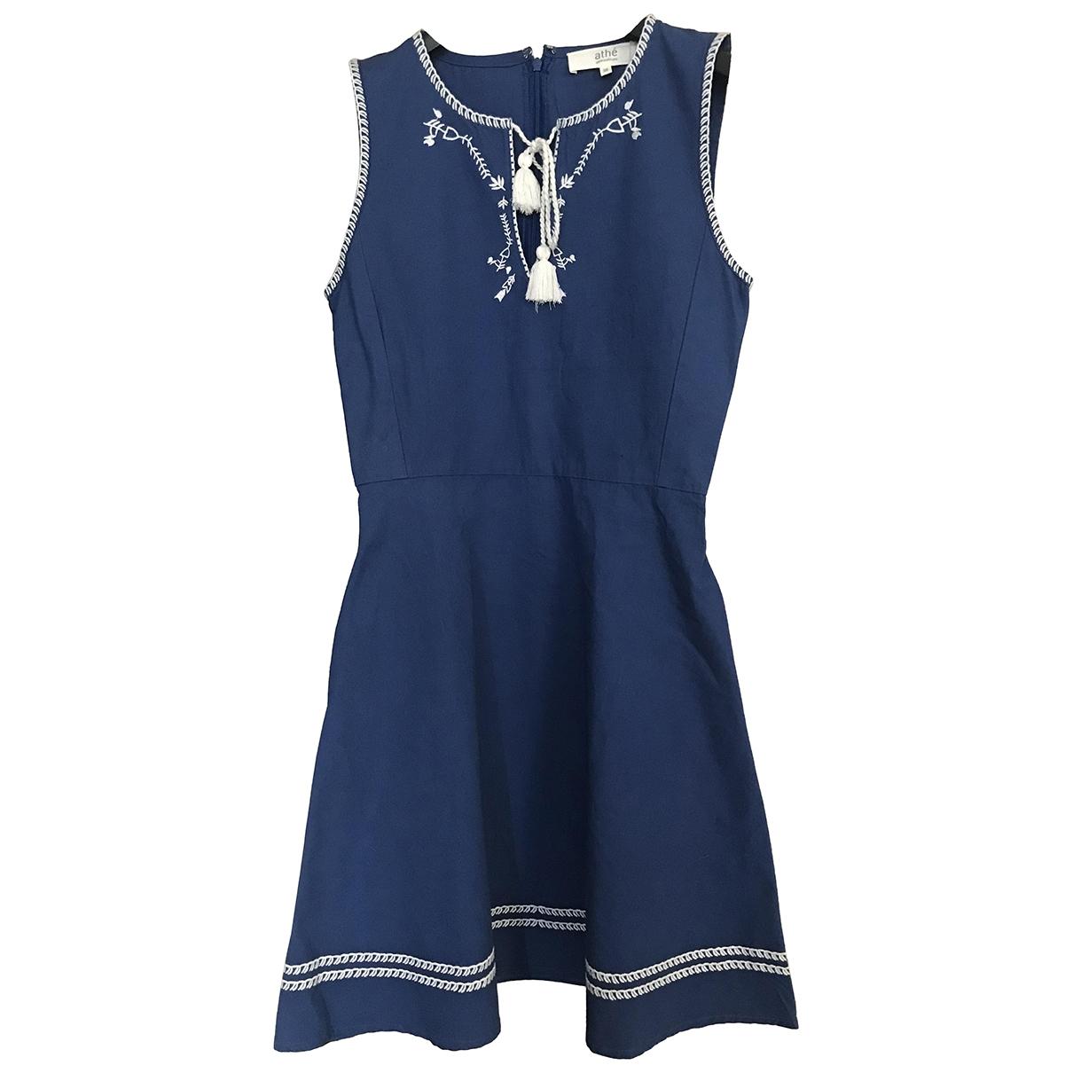 Vanessa Bruno Athe \N Blue Cotton dress for Women 36 FR