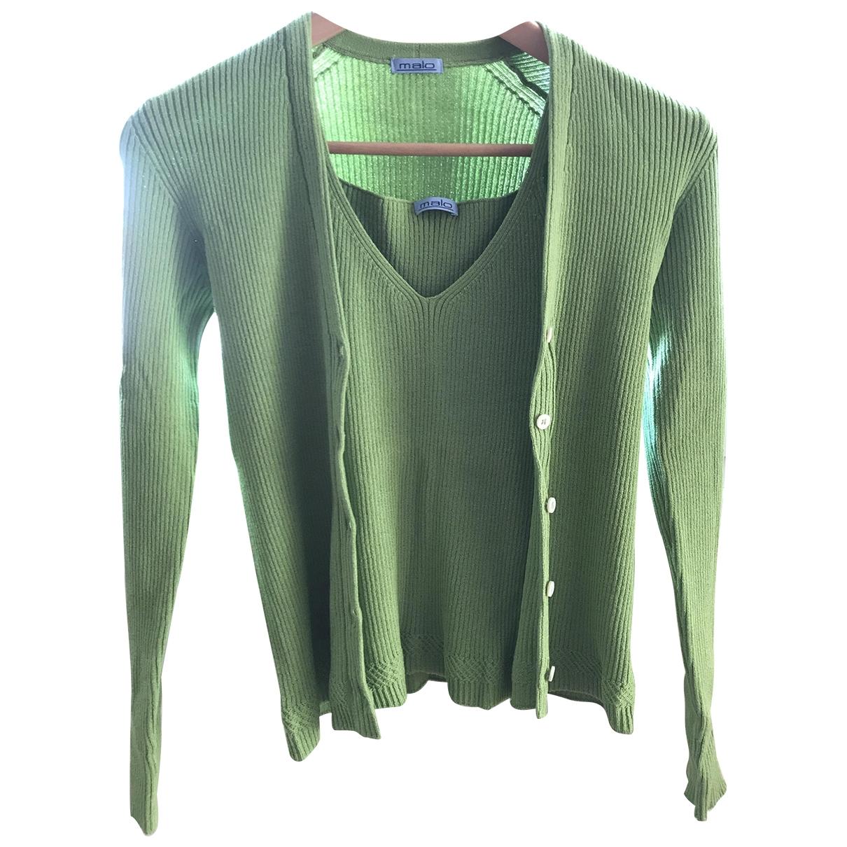 Malo \N Green Cotton Knitwear for Women 40 IT