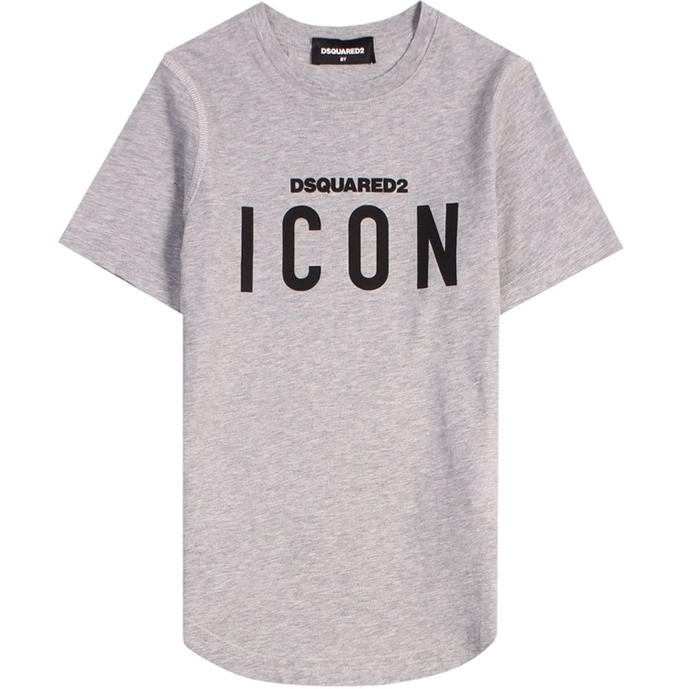 Dsquared2 Kids ICON T-Shirt Black & White Colour: GREY, Size: 4 YE
