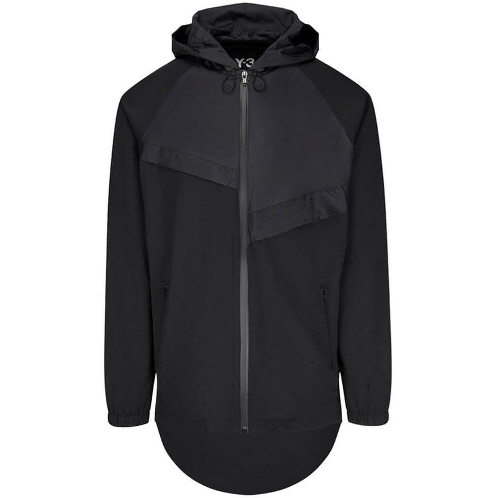 Y-3 Panelled Front Jacket Colour: BLACK, Size: MEDIUM