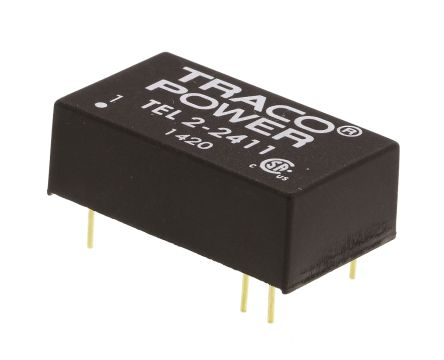 TRACOPOWER TEL 2 2W Isolated DC-DC Converter Through Hole, Voltage in 18 → 36 V dc, Voltage out 5V dc