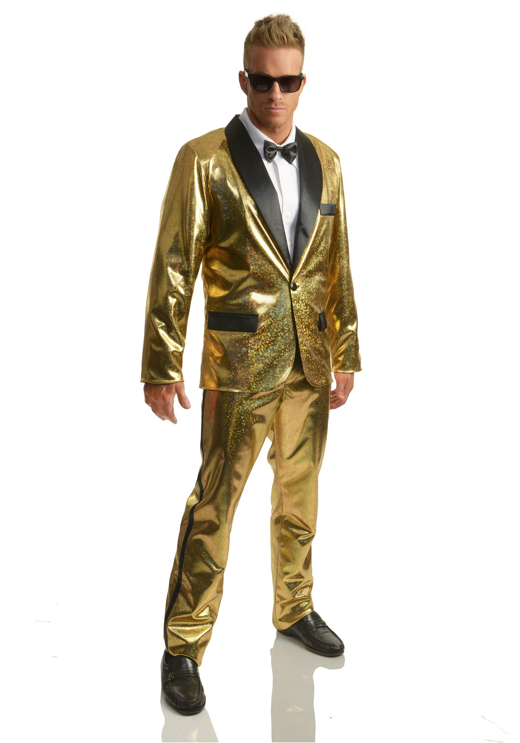 Gold Disco Ball Tuxedo Costume For Adult
