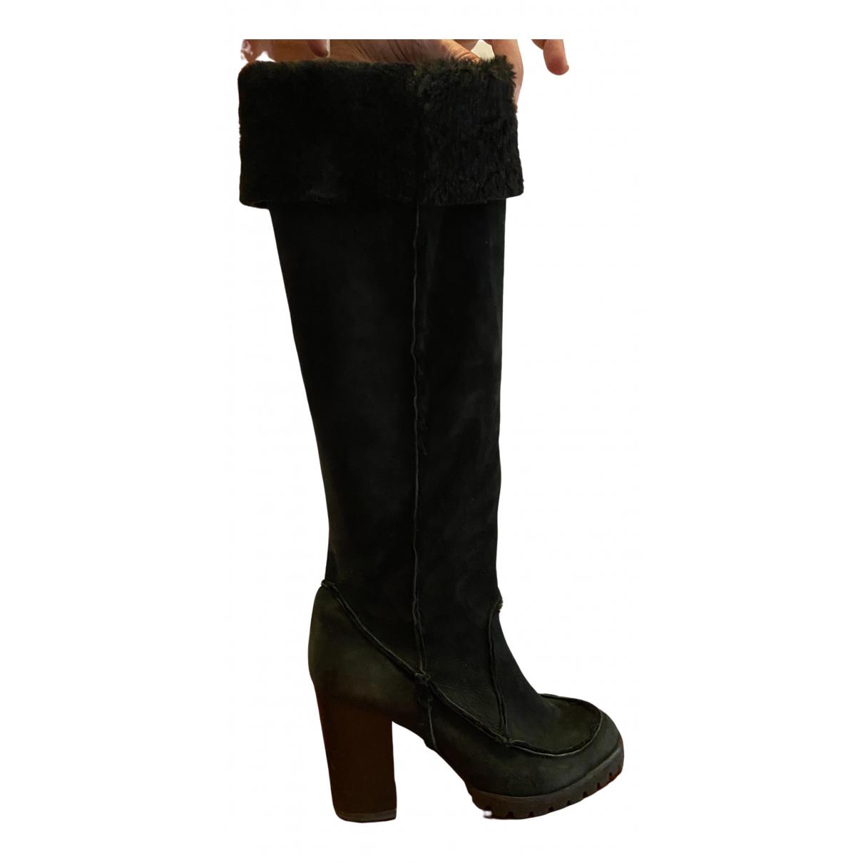 Fendi \N Black Suede Boots for Women 41 EU