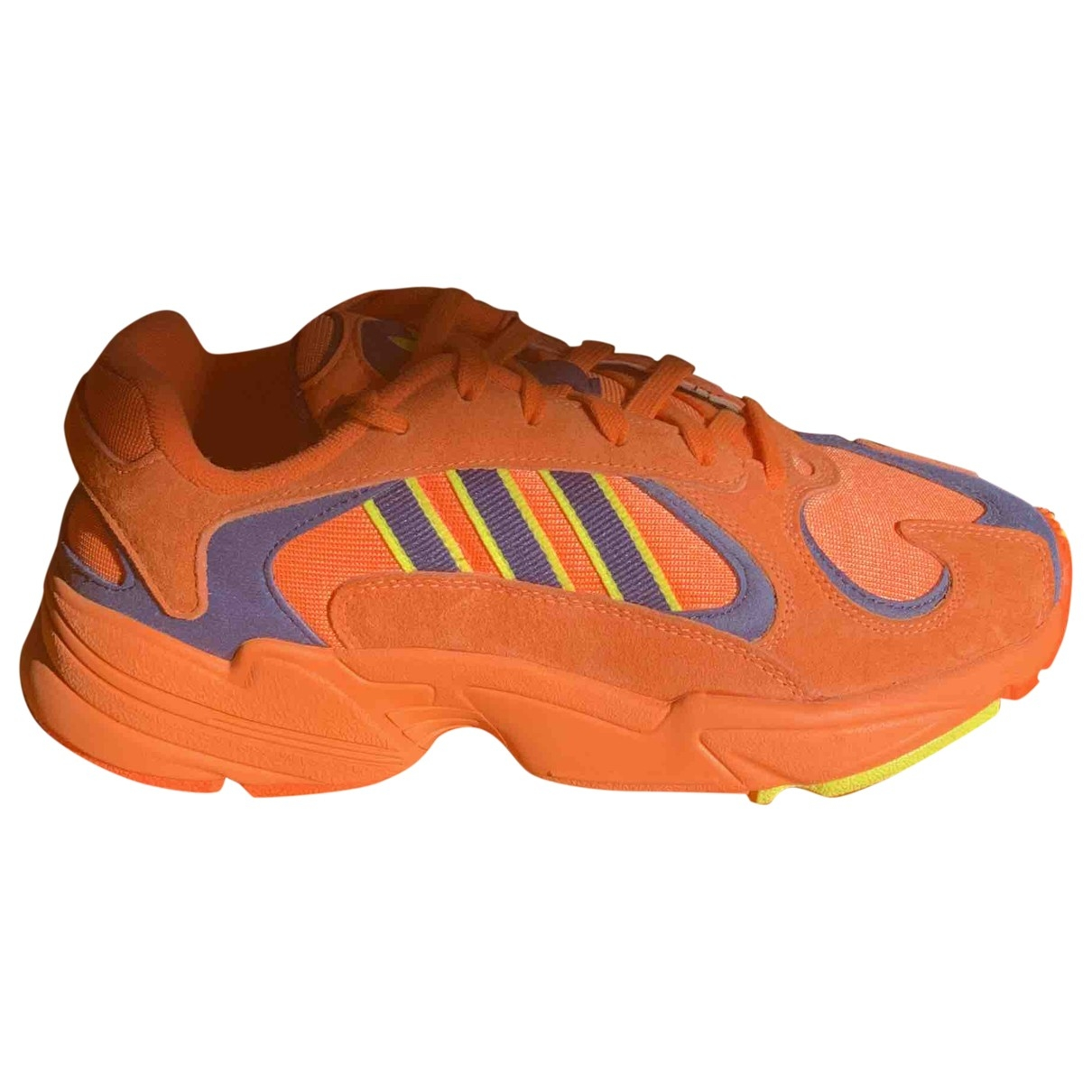 Adidas Yung-1 Orange Leather Trainers for Women 41.5 EU