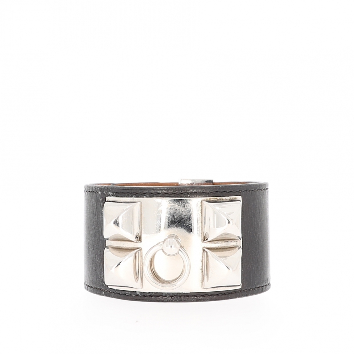 Hermès \N Black Leather bracelet for Women \N