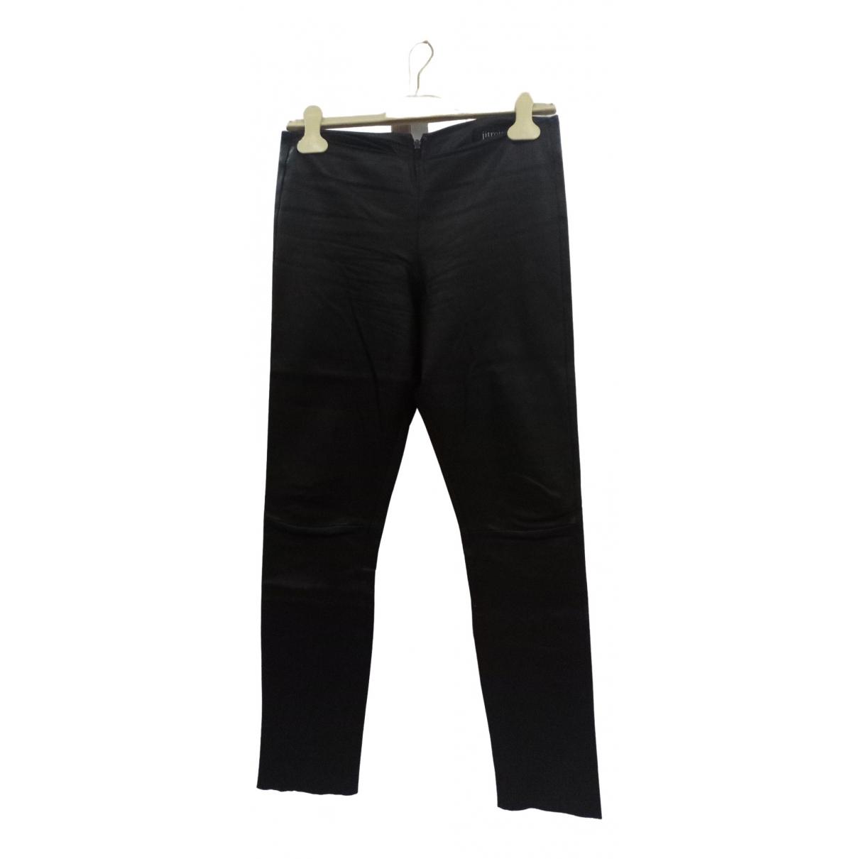 Jitrois \N Black Leather Trousers for Women 38 FR