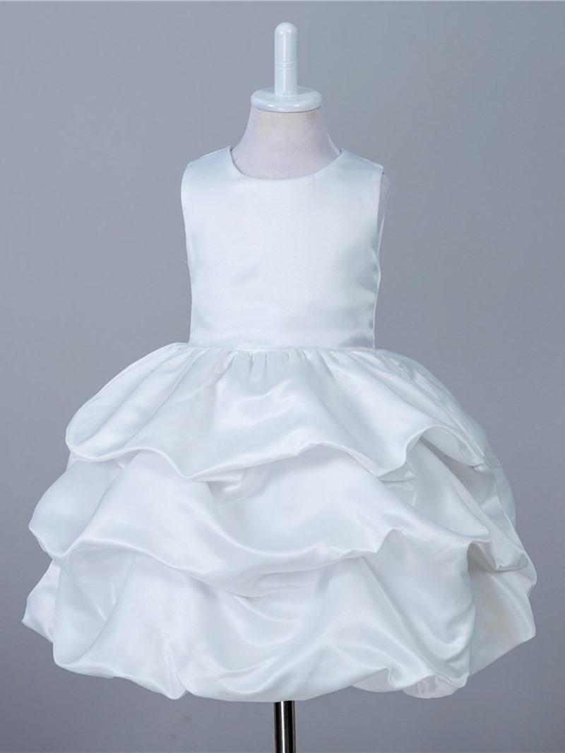 Ericdress Pleated Sleeveless Zipper Girl's Layered Dress