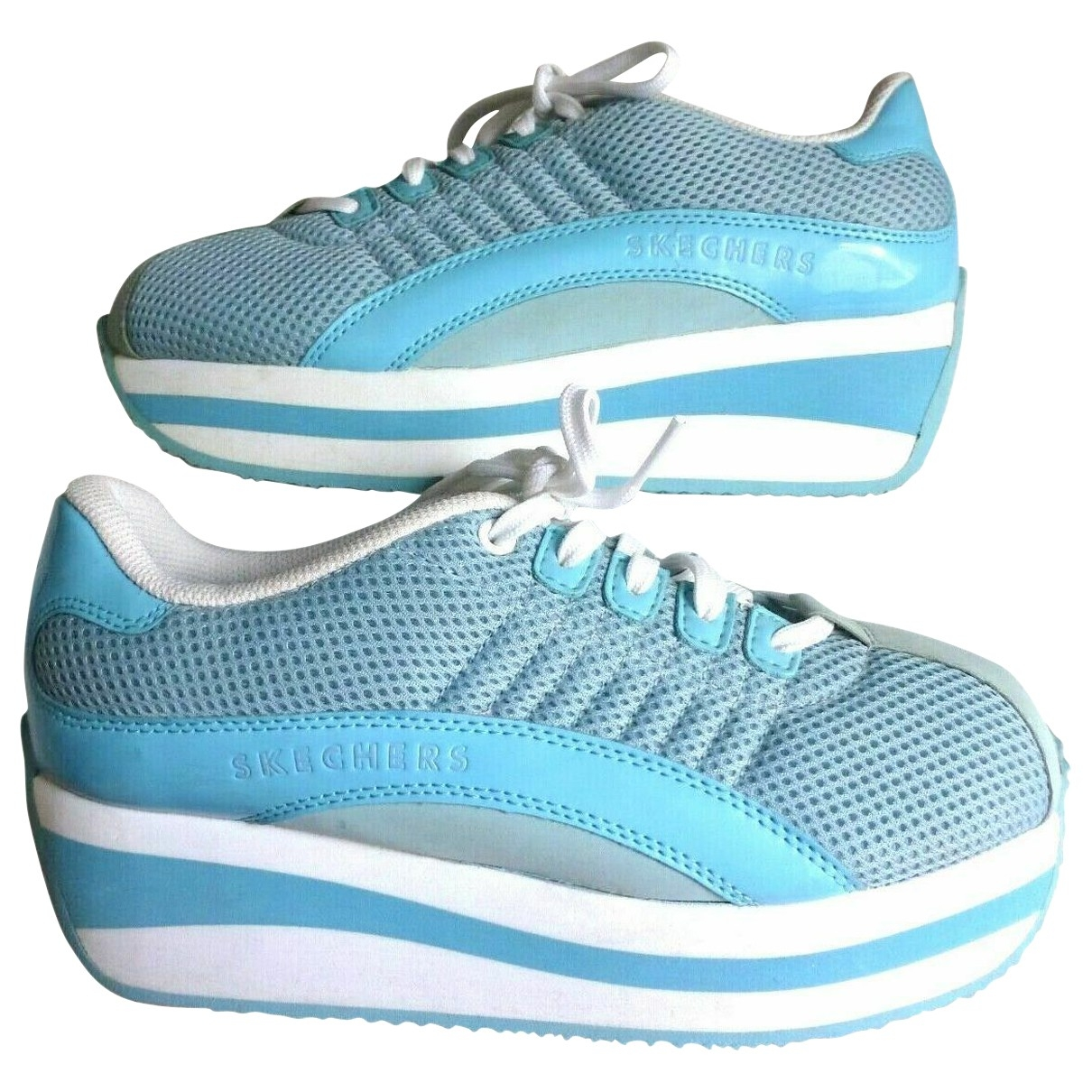 Skechers \N Blue Cloth Trainers for Women 37 EU