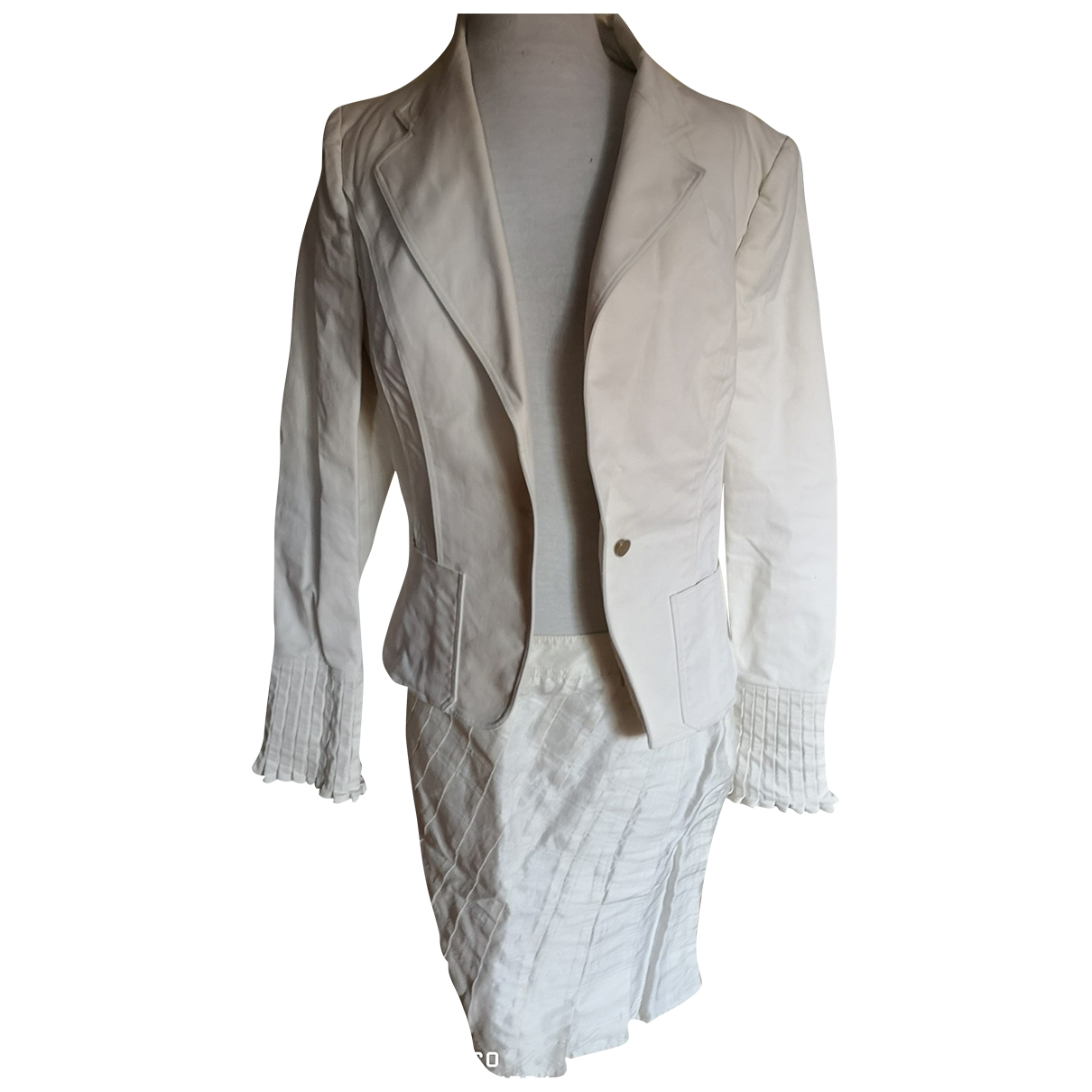 Gucci \N White Cotton jacket for Women 44 IT