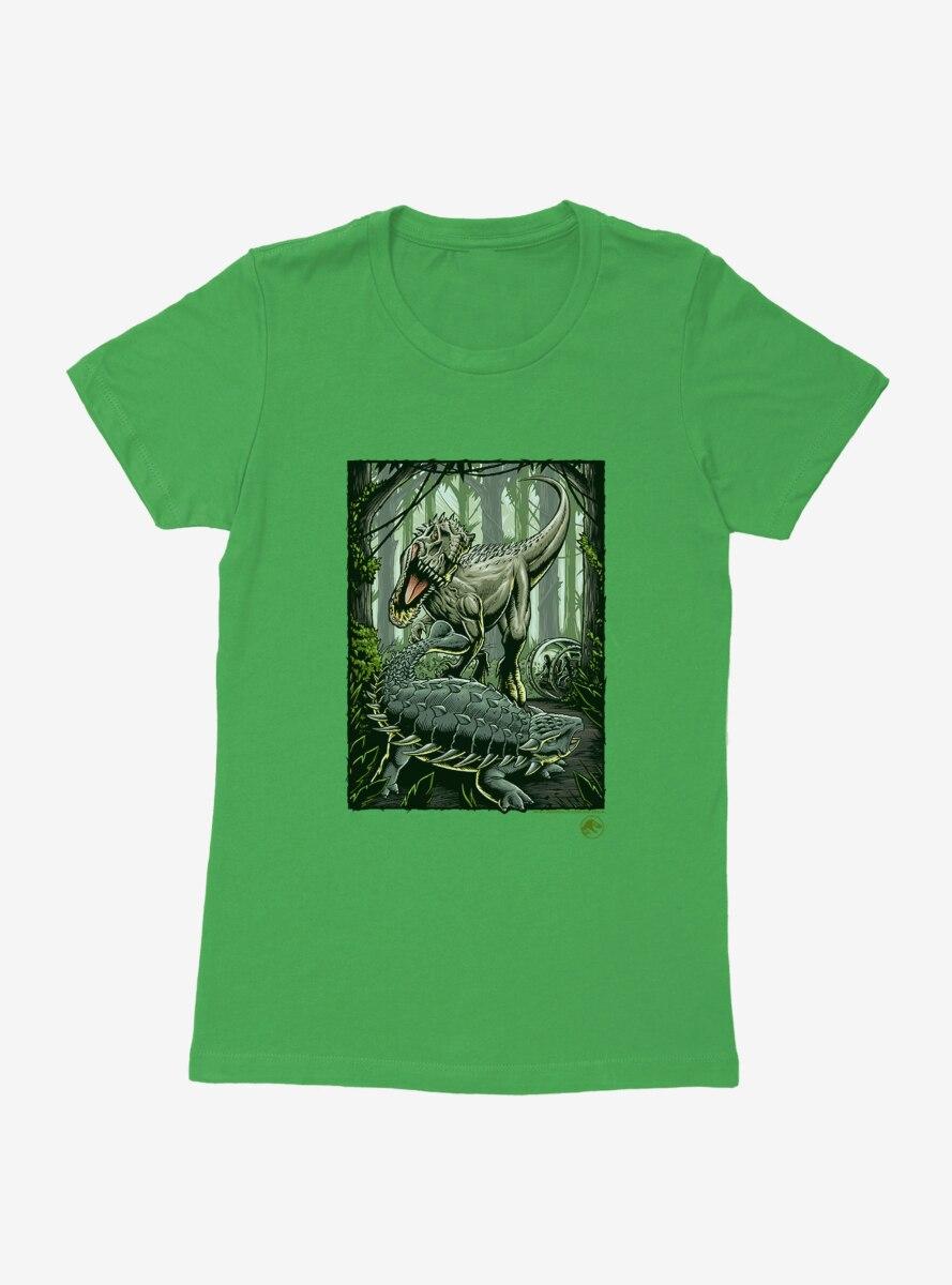 Jurassic World Forest Battle Womens T-Shirt