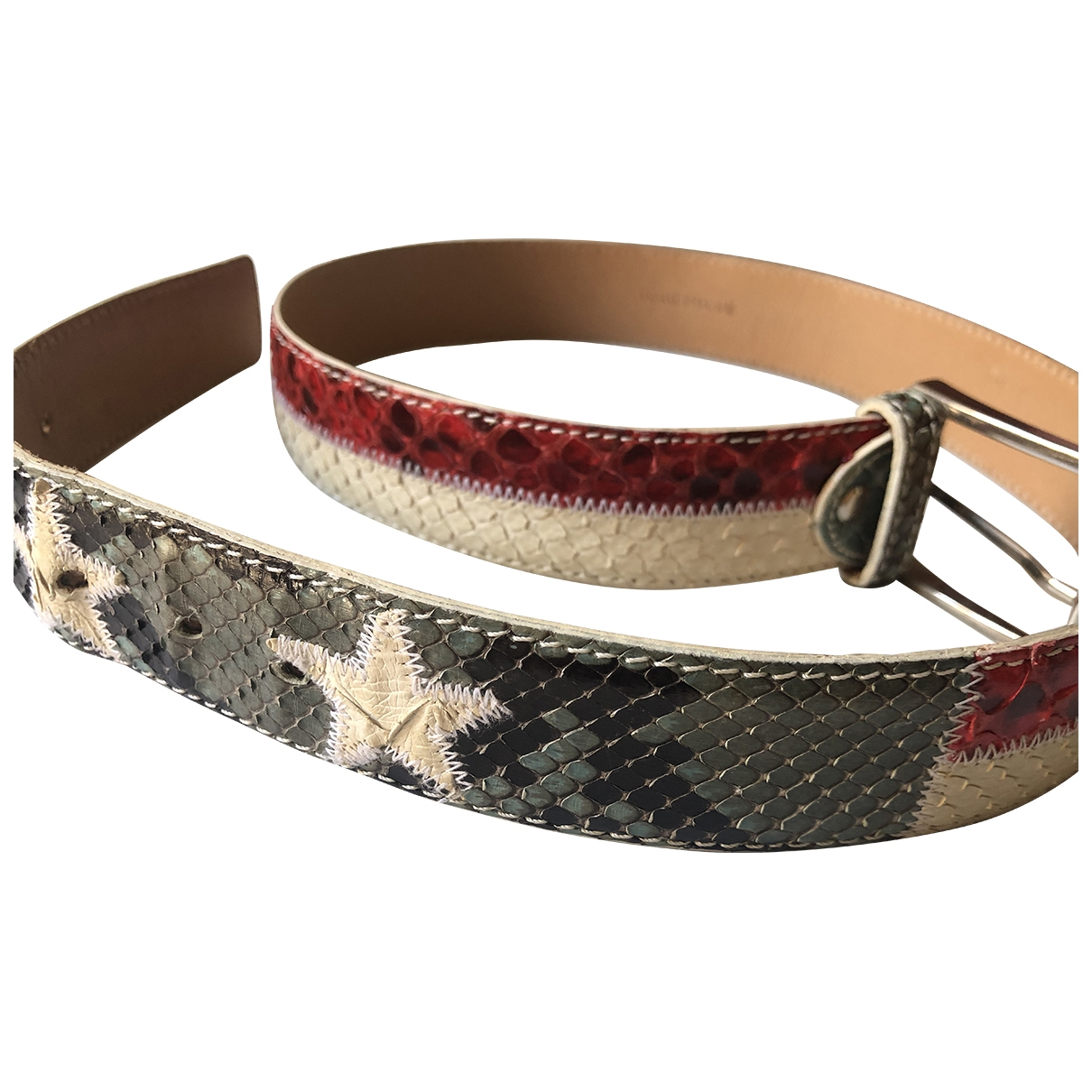 Non Signé / Unsigned \N Leather belt for Women M International