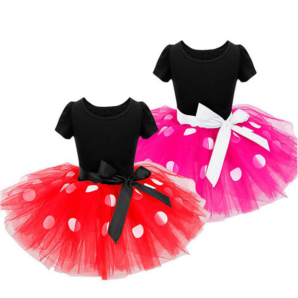 Dot Printed Girls Tulle Summer Tutu Dresses For 1Y-7Y