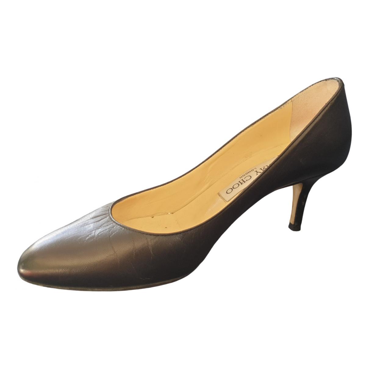 Jimmy Choo Esme Black Leather Heels for Women 36 EU
