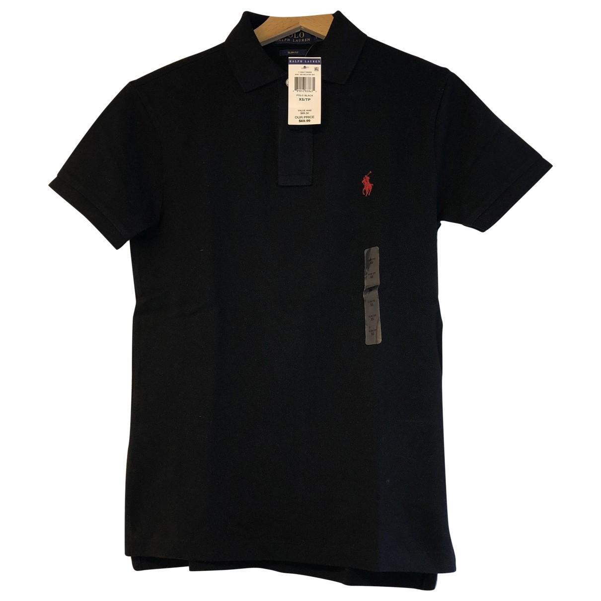 Polo Ralph Lauren \N Black Cotton Polo shirts for Men XS International