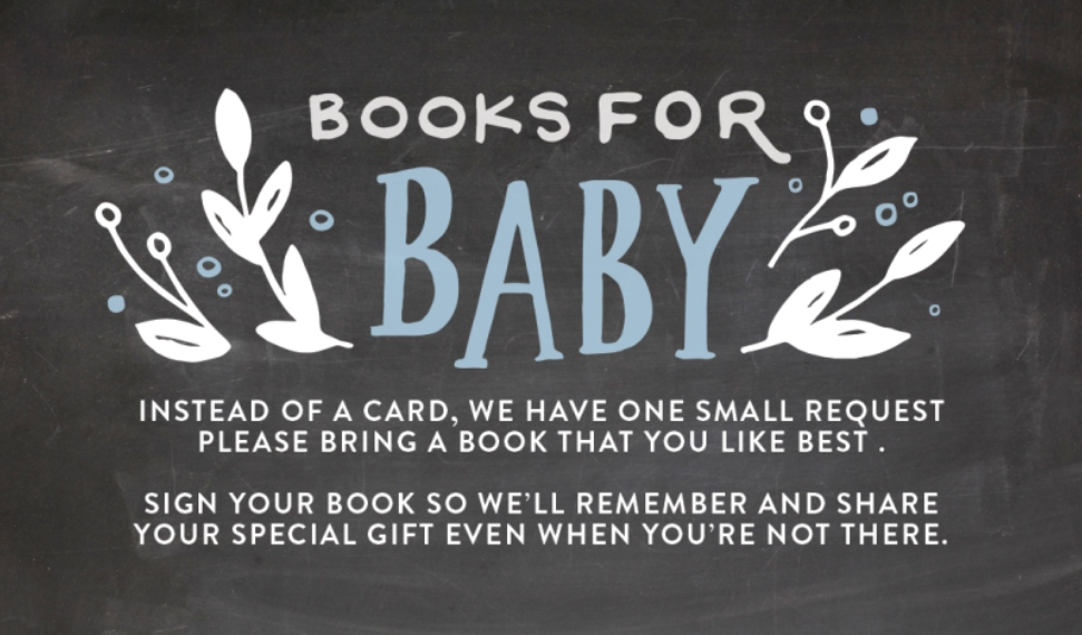 Baby Shower Invitations Business Cards, Set of 40, Silk, Card & Stationery -Baby Shower Organic Leaves Books by Tumbalina